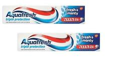 2X Aquafresh Fresh & Minty Toothpaste 24 Hours Triple  Protection 100 ml  3.5 oz