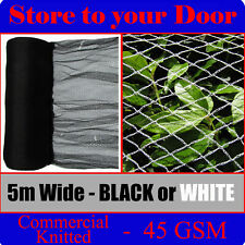 5m Width - Knitted Anti Bird Netting, Commercial Grade 45 GSM - Pest Net / Mesh