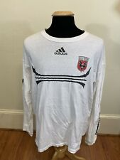 Vintage ADIDAS MLS - D.C. United Soccer Long Sleeve T-Shirt Men's Large