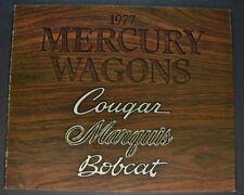 1977 Mercury Station Wagon Brochure Marquis Colony Park Cougar Villager Bobcat