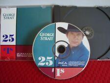 GEORGE STRAIT 25 #1'S MCA 3P-2973 <>1994 PROMO PICTURE DISC CD<>VERY GOOD
