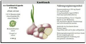 Knoblauch Kapseln (allium sativum)