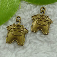 Free Ship 140 pcs  bronze plated rompers charms 22x16mm #2534