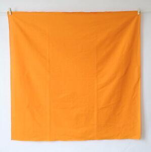Japanese Large Furoshiki Cotton Wrapping Cloth Turmeric Golden Yellow Orange 3ft