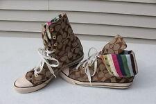 COACH Bonney High Top Brown / Tan Fashion Sneakers Shoes Women's size 9 M A1283