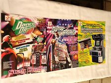 3  KONAMI  FLYERS - DANCE DANCE REVOLUTION,GUITAR FREAKS & HIP HOP MANIA