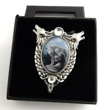 Anne Stokes Enchanted Cameos necklace Protector wolf art work Official Licensed