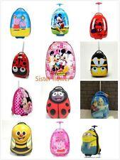 Kids Character Egg Shaped 2Wheels Travel Luggage Trolley Case Luggage Suitcase