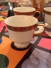 Vintage Sango China Georgetown Teacup Gold Tone And White