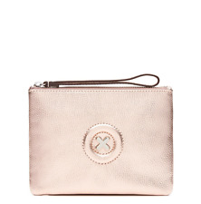 MIMCO Metallic Medium pouch Rose gold Hardware wristlet Authentic BNWT RRP89.95