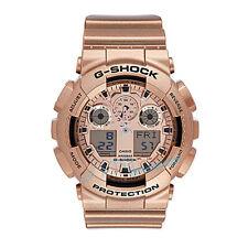 Nueva marca Casio G-shock GA-100GD-9 Reloj Correa De Resina De Oro Rosa