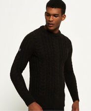 Superdry Jacob Heritage Cable Knit Jumper Medium Bark D35