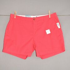 """OLD NAVY NEW $28 Pink 5"""" Cotton Chino Short Flat Front Size 14"""