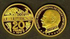Pièces de monnaie françaises de 20 francs 20 francs or plaqué à 40 francs