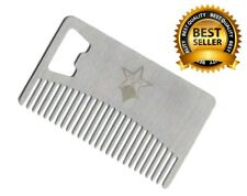Beard, Mustache and Hair Care Comb with Bottle Opener Wallet Size