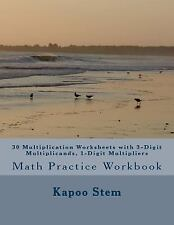 30 Days Math Multiplication: 30 Multiplication Worksheets with 3-Digit...