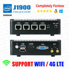 Fanless Mini PC Intel J1900 4 LAN Port 0G RAM/0G SSD Barebone pfSense Firewall