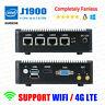 Fanless Mini PC Intel J1900 4 LAN Port 0G RAM/0G SSD Barebone pfSense Firewall