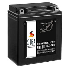 SIGA GEL Motorrad Batterie YB12AL-A2 12Ah 12V 230A BMW F 650 GS, Yamaha XV 535