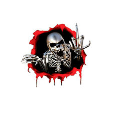 1x 3D Metal Skeleton Skull Car Motorcycle Side Trunk Sticker Emblem Badge Decal