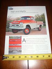1959 GMC NAPCO 4X4 PICK UP TRUCK - ORIGINAL ARTICLE
