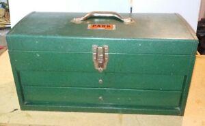 Vintage Park Machinist Tool Chest Box Model P22N PARK MFG CO Grant Park Ill USA
