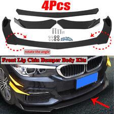 4PCS Universal Gloss Black Front Bumper Lip Body Kits Spoiler Splitter For BMW