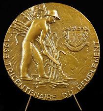 Medaille Ile de La Réunion 81 mm Georges Guiraud Coupeur de canne à sucre medal