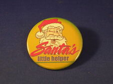 Lot of 5 Santa'S Little Helper Buttons pins Xmas Badges