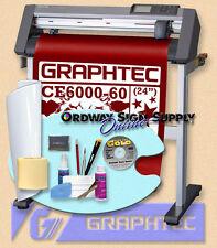 "Graphtec CE6000 60 24"" Vinyl Plotter Cutter w Stand & Accessories Wrnty OBO"