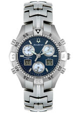 RARE Accutron 26B05 Nantucket Mens Chronograph Digital Alarm Time Zone Watch NEW