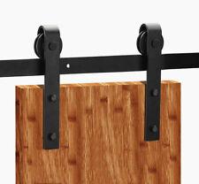Dark Coffee Door Hardware Steel Wood Barn Door Roller Wheel Closet Replacement U