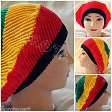 Mens Ladies Knitted Winter Oversized Slouch Beanie Hat Cap skateboard Rasta