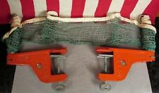 Vintage 1960s Hanno Ping Pong Table Tennis Net Posts Clamp Brackets German Nice!