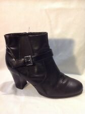 Good For The Sole Black Ankle Leather Boots Size 7