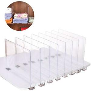 Multifunction Acrylic Shelf Dividers Closets Wardrobe Cupboard Shelf Separator