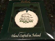 Belleek Irish Blessing Fine Parian China Christmas/Anytime Ornament #2128 In Box