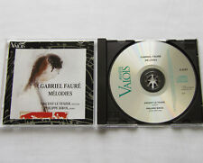 P. BIROS-V. LE TEXIER / Gabriel FAURE Melodies FRENCH CD VALOIS V 4747 (1995)