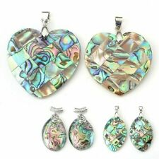Heart Oval Horse Eye Abalone Shell Pendant Necklace For Party Casual Occasions