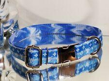 New listing La Gucci Monogram Silver Metal Buckle Blue Tye Dye Dog Collar 16-19 in $74- �🎃