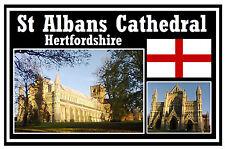 ST ALBANS CATHEDRAL, ENGLAND UK - SOUVENIR FRIDGE MAGNET - BRAND NEW - GIFT
