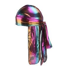 Fashion Unisex Men Women Silky Durag Head Wrap Cap Summer Bandannas Rag Hat