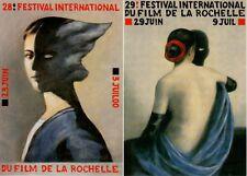 LOT 2 CARTES POSTALES FESTIVAL INTERNATIONAL DU FILM DE LA ROCHELLE - 2000/2001