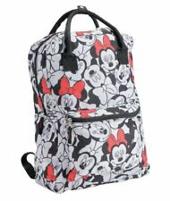 Disney Adult Zippered Backpack Classic Minnie Mouse Bag with 2 Carrying Handle