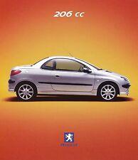 Peugeot 206 CC Prospekt FIN brochure Auto PKWs Frankreich Autoprospekt Broschüre
