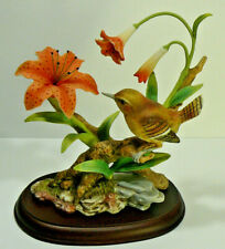Homco Masterpiece Porcelain Field Wren Figurine by Home Interior with Base