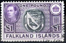 Falkland Is 1938 Black & Violet SG163 V.F.U (5)