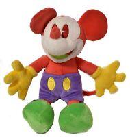 Walt Disney World Disneyland Mickey Mouse Bright Colors Stuffed Plush NWT E117