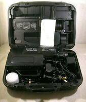 Vintage VHS Video Camera/Recorder & Case,SEARS Solid State 53790950 Zoom Lens
