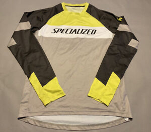 Specialized Men's Long Sleeve Tee Shirt Size S Gray Neon